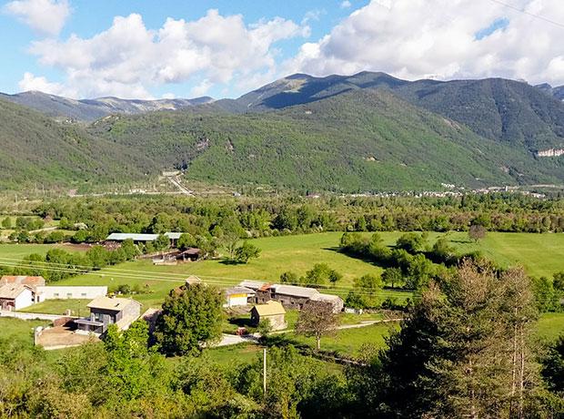 Panorámica Orós Alto Pirineo