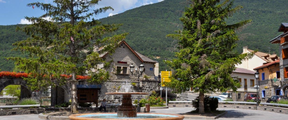 Biescas en Pirineo aragonés